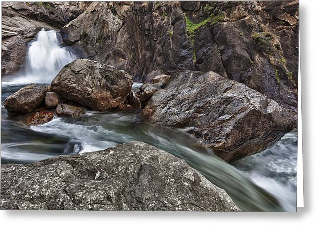 Roaring River Falls Greeting Card by A A