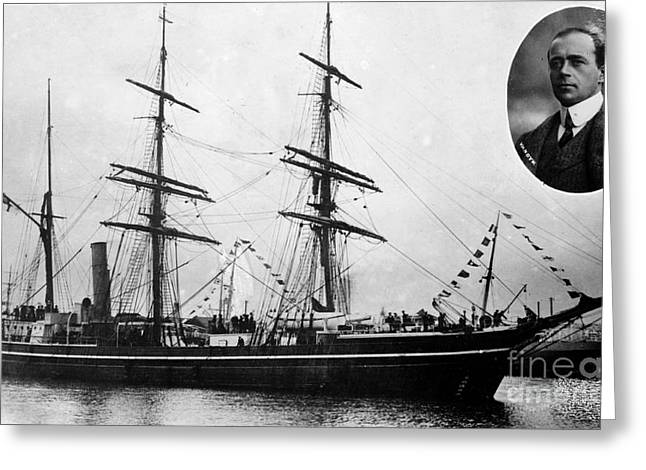 Robert Falcon Scott And His Exploration Greeting Card