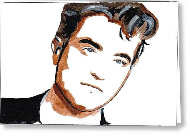 Robert Pattinson 22 Greeting Card by Audrey Pollitt