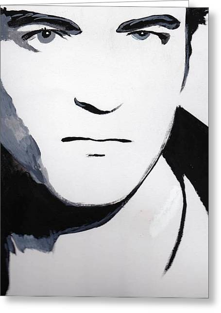 Greeting Card featuring the painting Robert Pattinson 5 by Audrey Pollitt
