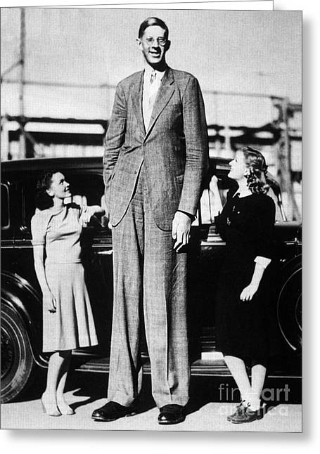 Robert Pershing Wadlow, Tallest Man Greeting Card by Science Source