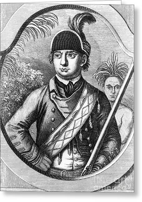 Robert Rogers, Colonial American Greeting Card by Photo Researchers