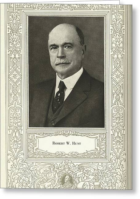 Robert W. Hunt, Us Engineer Greeting Card