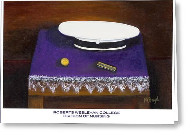 Roberts Wesleyan College Division Of Nursing Greeting Card by Marlyn Boyd