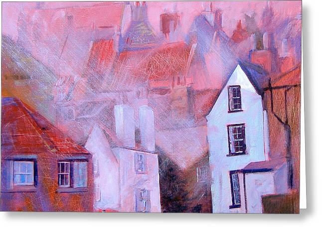 Robin Hoods Bay Dock Greeting Card by Neil McBride