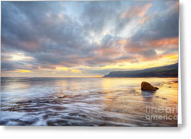 Robin Hood's Bay Greeting Card by Martin Williams