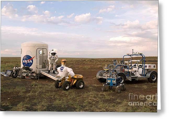 Robonaut Field Testing Greeting Card