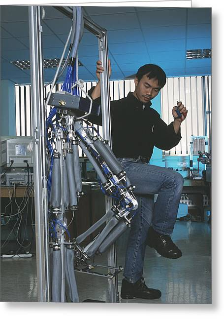 Robotic Legs Greeting Card by Volker Steger