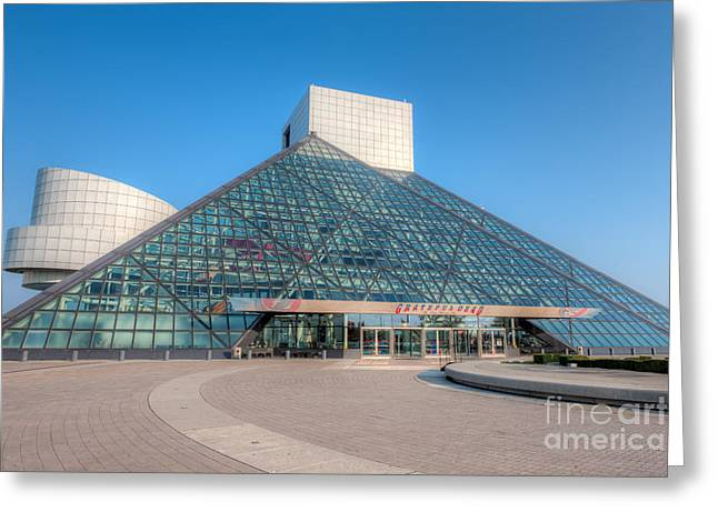 Rock And Roll Hall Of Fame II Greeting Card by Clarence Holmes