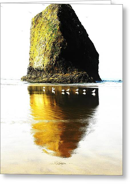 Rock At Silver Point Oregon Greeting Card