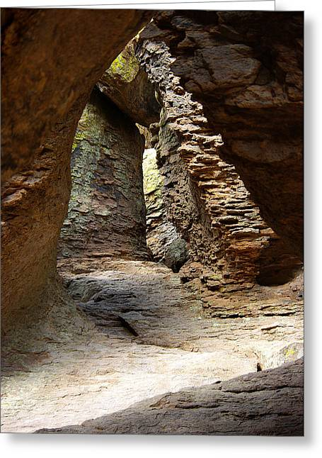 Greeting Card featuring the photograph Rock Chamber by Vicki Pelham