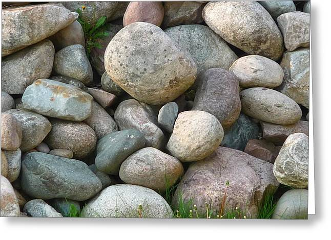 Rock Collection Greeting Card by Michael Carrothers
