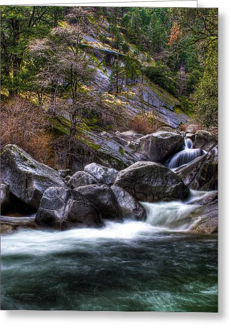 Rock Creek Greeting Card by Ren Alber