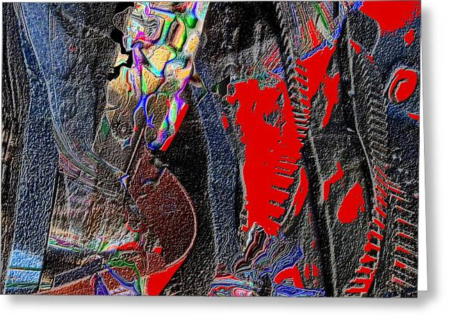 Rock Greeting Card by Dave Kwinter