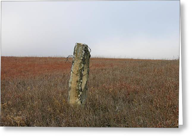 Rock Fence Post Greeting Card by Keith Stokes