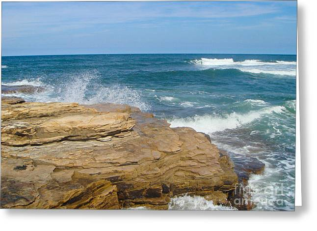 Rock Formation Dunbar Greeting Card