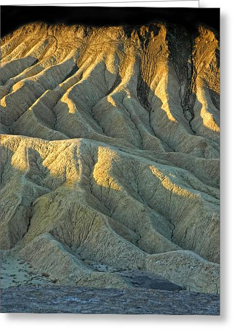 Rock Formations At Death Valley Greeting Card by Dave Mills