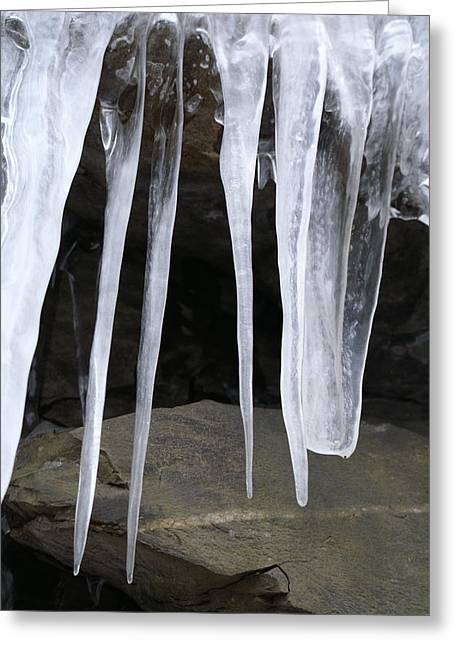 Rock Ice Greeting Card by Margaret Steinmeyer