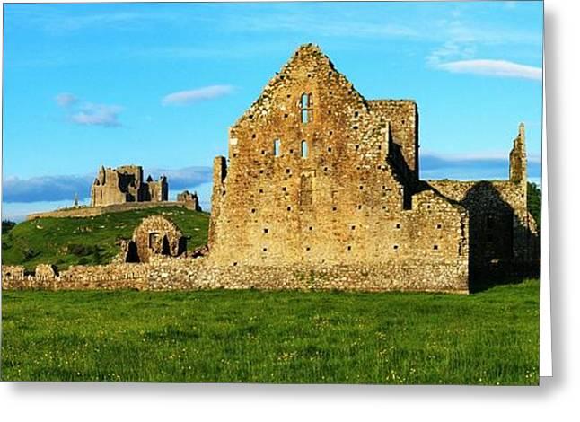 Rock Of Cashel, Hore Abbey, Cashel Greeting Card by Peter Zoeller