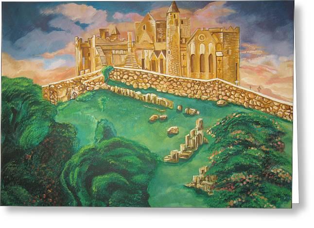 Rock of Cashel-Ireland Greeting Card by John Keaton