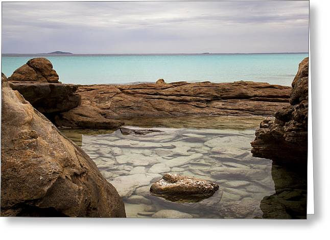 Greeting Card featuring the photograph Rock Pool by Serene Maisey