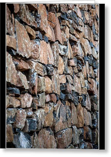 Rock Wall Greeting Card by Miguel Capelo