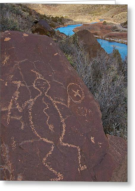 Greeting Card featuring the photograph Rock Warrior by Britt Runyon