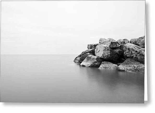 Rock Water Two Greeting Card by CJ Schmit