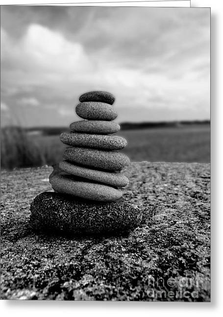 Rock Zen Greeting Card by Kami McKeon