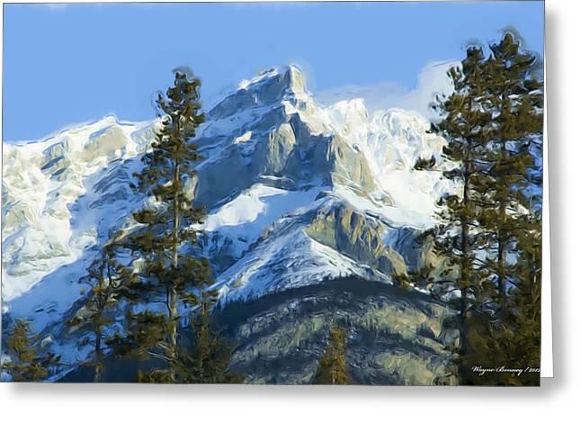 Rockies II Greeting Card by Wayne Bonney