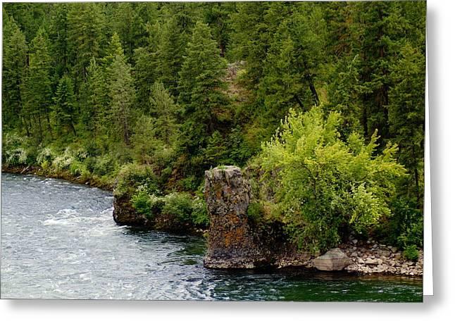 Rockin The Spokane River Greeting Card