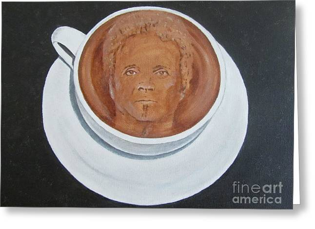 Rockin'coffee Greeting Card