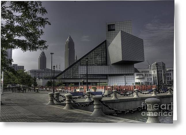 Rocking Hall Of Fame Greeting Card by David Bearden