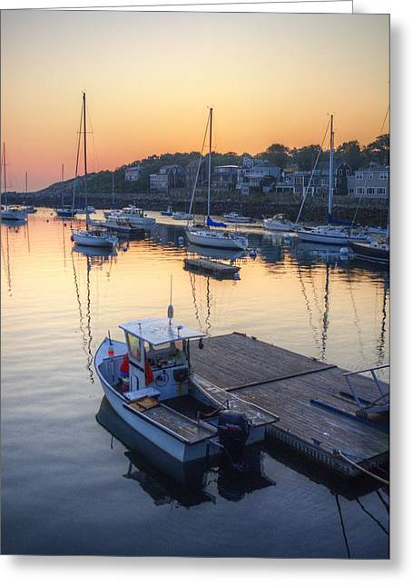 Rockport Dawn Greeting Card by Matthew Green