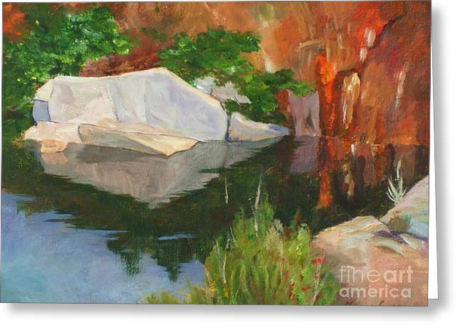 Rockport Quarry Reflection Greeting Card
