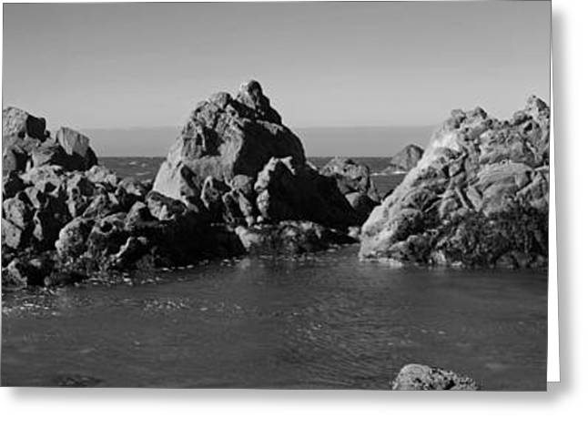 Rocks In Ocean Greeting Card by Twenty Two North Photography