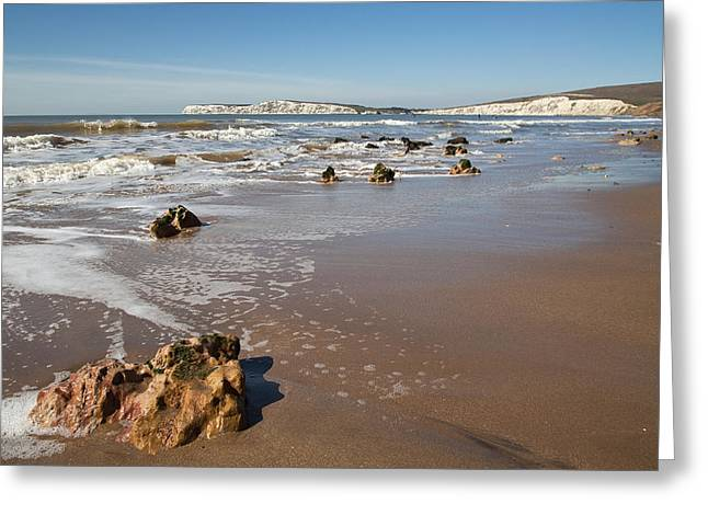 Rocky Bay Greeting Card by Shirley Mitchell