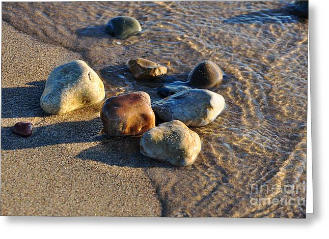 Rocky Beach  Greeting Card by Ginger Harris