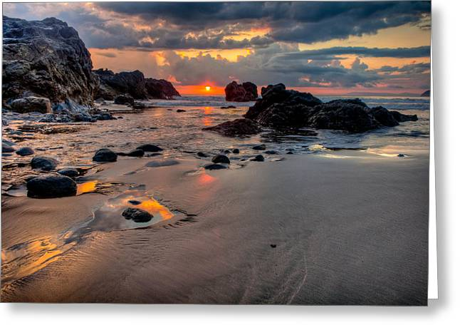 Rocky Beach In Costa Rica Greeting Card by Anthony Doudt