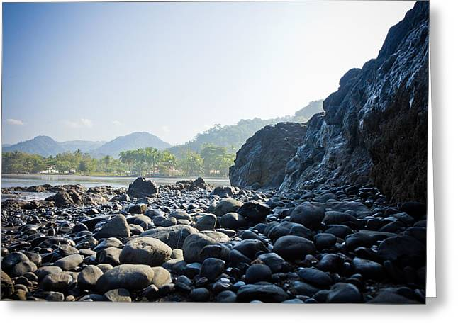 Rocky Beach Sunrise Greeting Card by Anthony Doudt