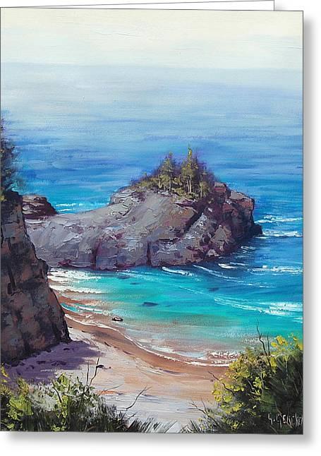 Rocky Coast Big Sur  Greeting Card