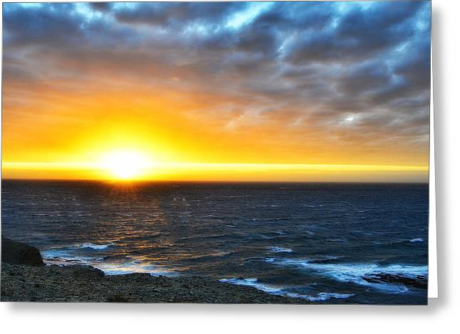 Rocky Harbour Nl Sunset Greeting Card