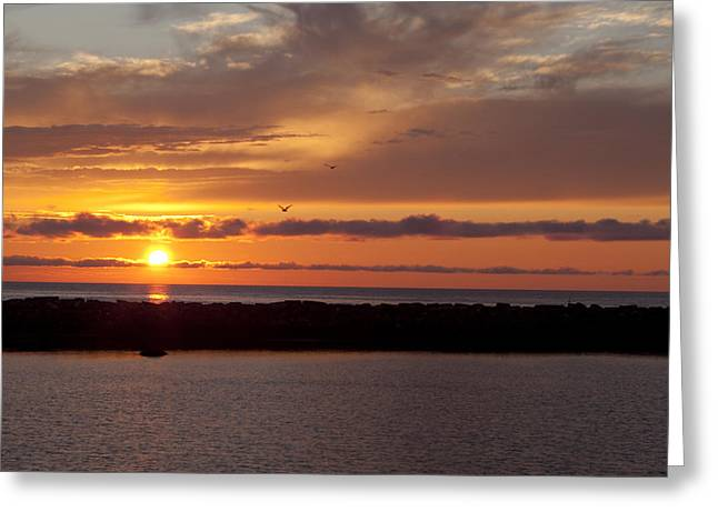 Rocky Harbour Sunset Greeting Card