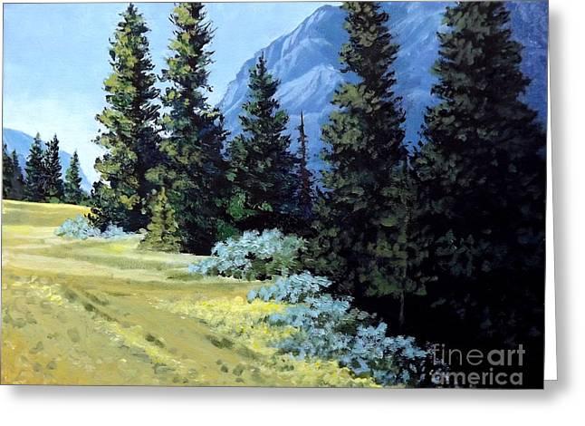 Rocky Mountain Meadow Greeting Card
