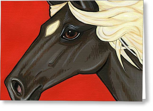 Rocky Mountain Pony Greeting Card by Leanne Wilkes