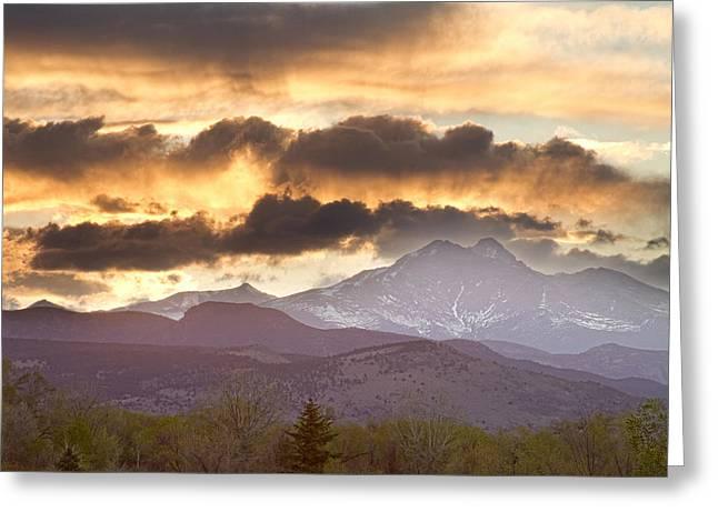 Rocky Mountain Springtime Sunset Greeting Card