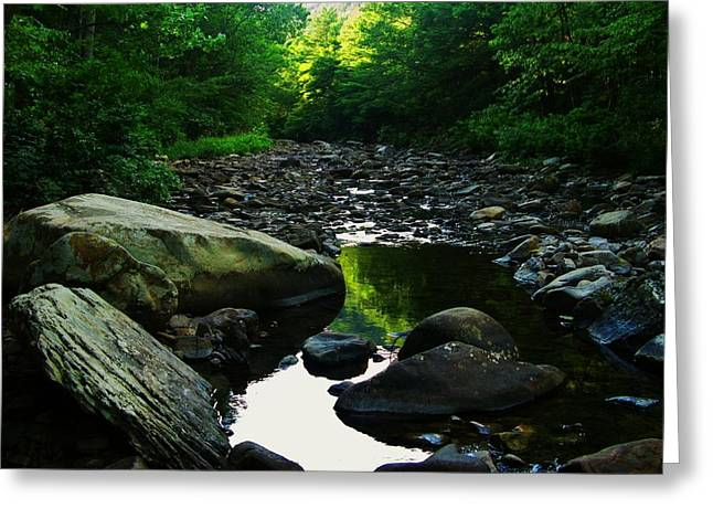 Rocky River Greeting Card by Joyce Kimble Smith