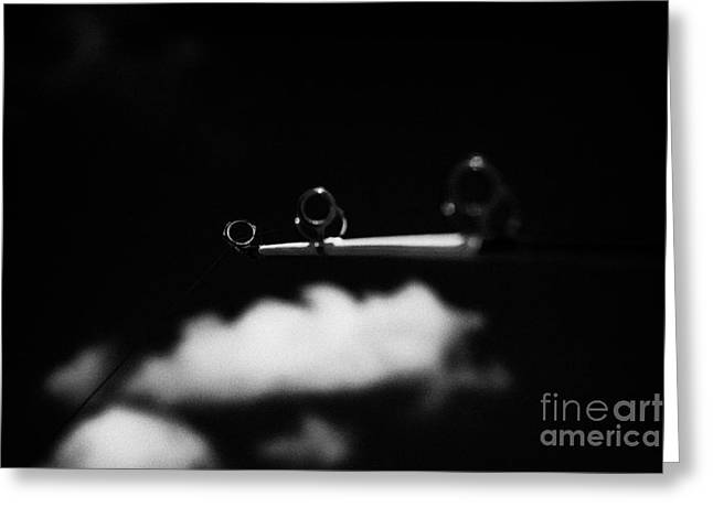 Rod And Line Fishing Against Sky Greeting Card by Joe Fox