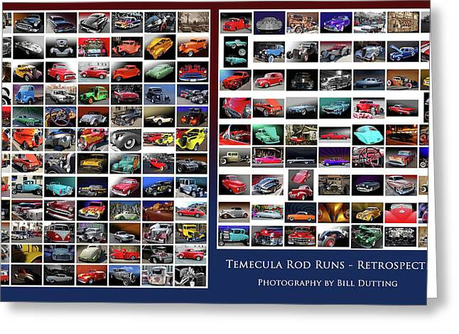 Greeting Card featuring the photograph Rod Run Retrospective by Bill Dutting