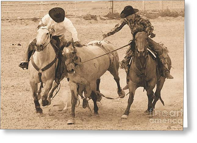 Rodeo Action Greeting Card